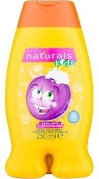 Avon Naturals Kids szampon z odżywką 2 w1 dla dzieci z zapachem Perky Plum 250 ml