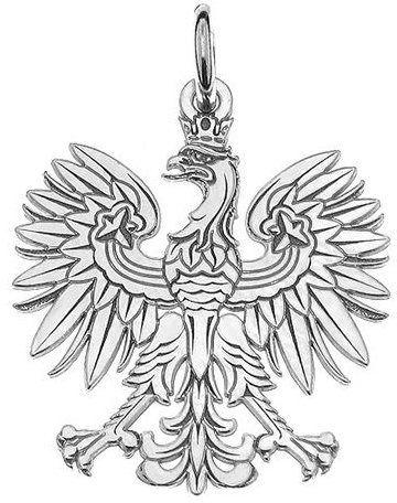 Wisiorek srebrny godło polski orzeł-6