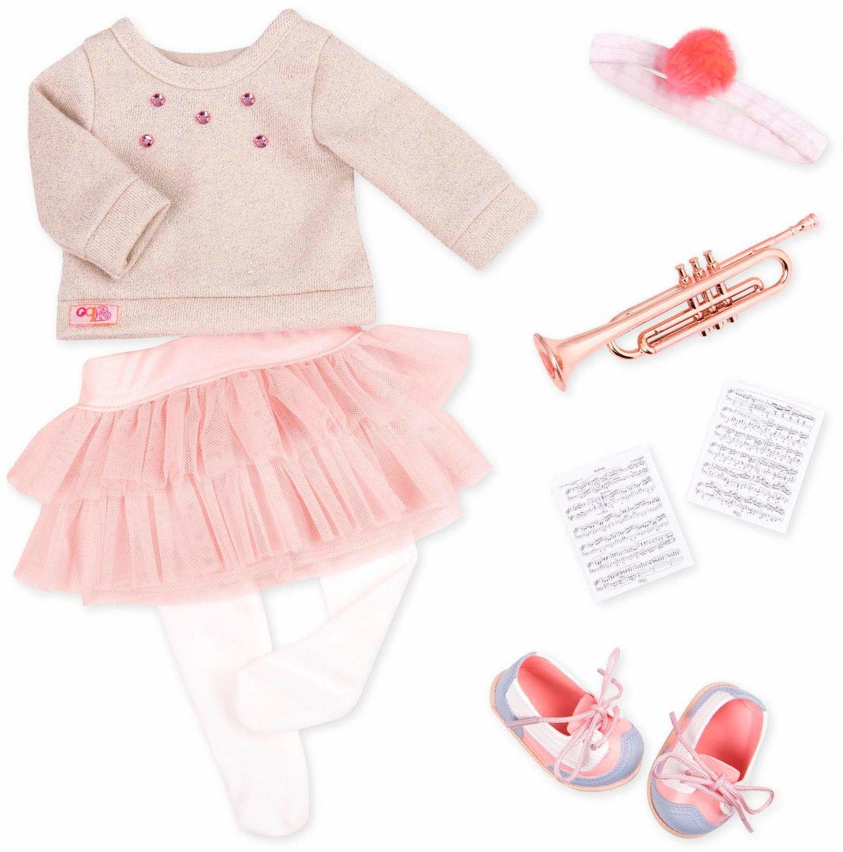 Our Generation BD30308 Fashion Notes lalki ubrania, różowe