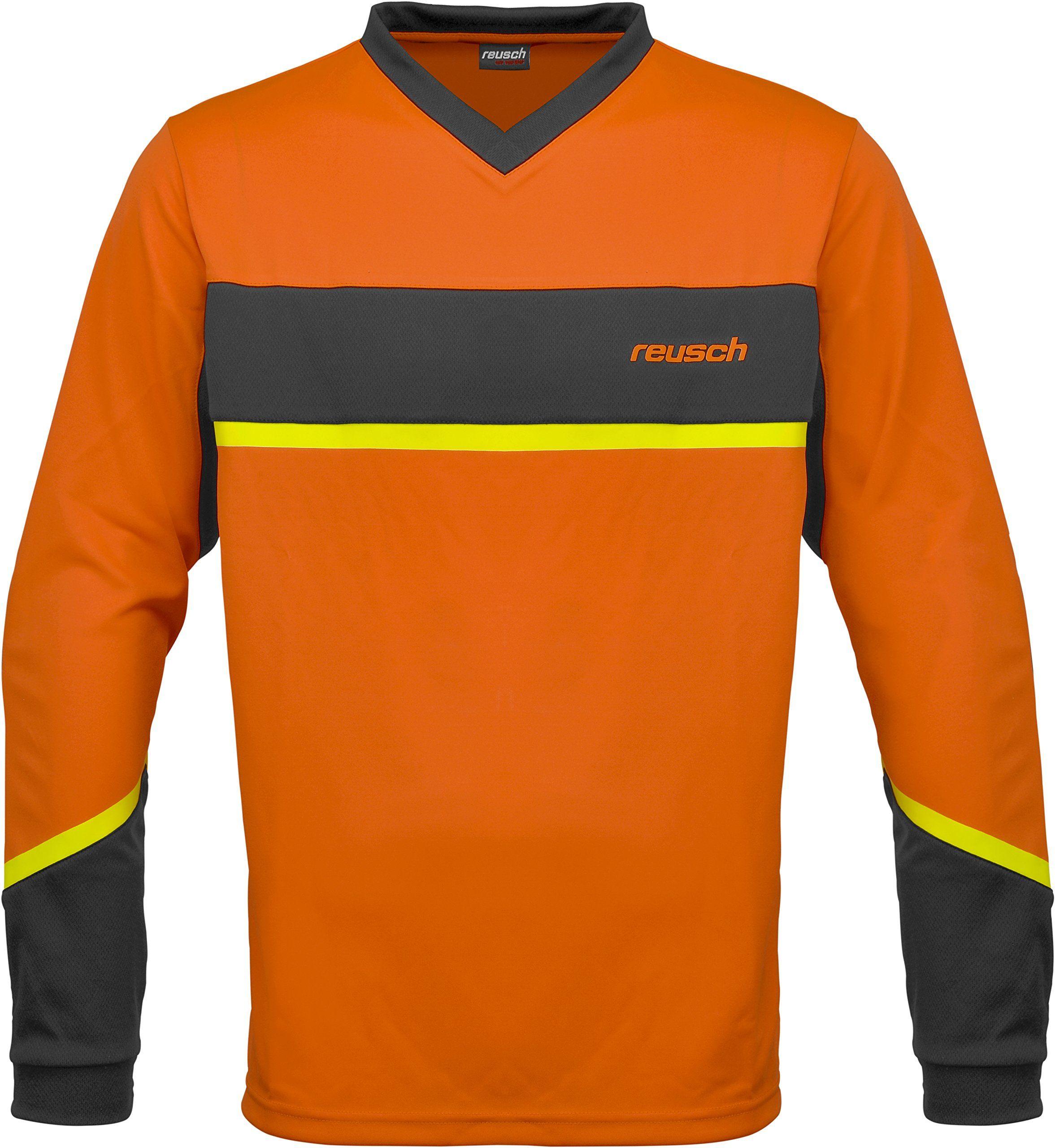 Reusch Reusch Razor koszulka męska z długim rękawem pomarańczowa Shocking Orng/Safety Yellw XX-L