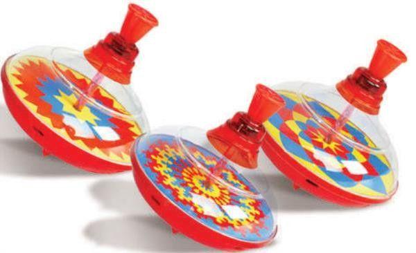 Przezroczysty Wirujący Bąk Bączek Polskiej Produkcji Zabawka dla Dzieci