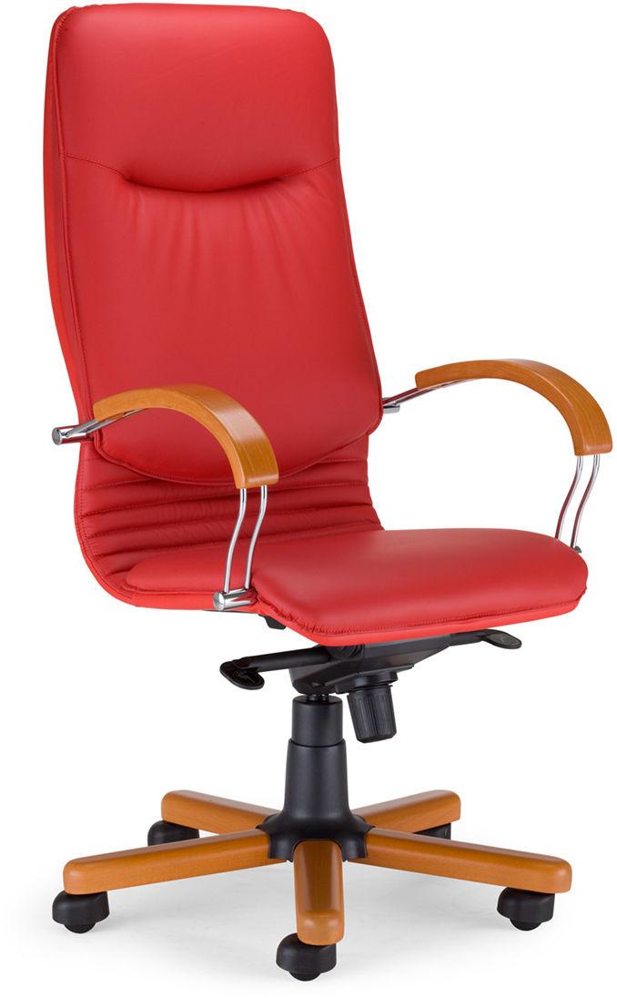 NOWY STYL Fotel gabinetowy NOVA wood chrome Multiblock
