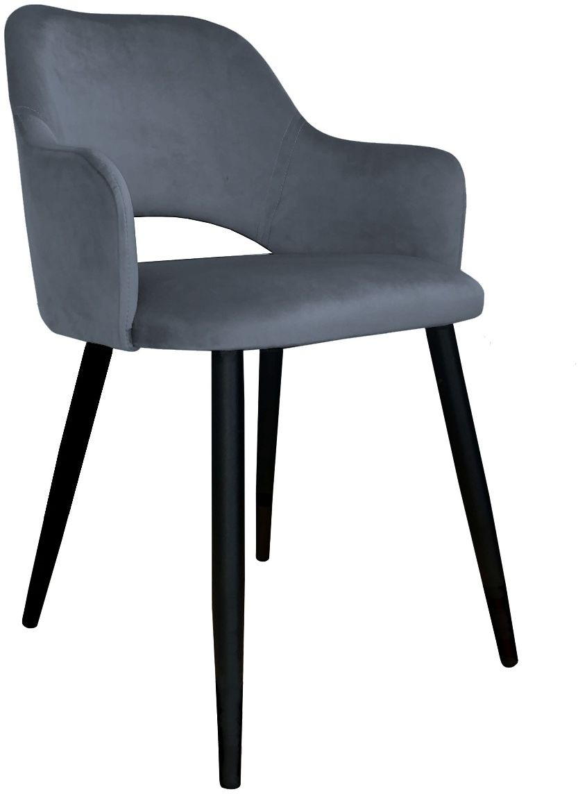 Krzesło NAPO BL VELVET ciemno szare