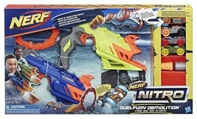 Hasbro Nerf Nitro - Dwie wyrzutnie Duelfury Demolotion + 4 samochody C0817