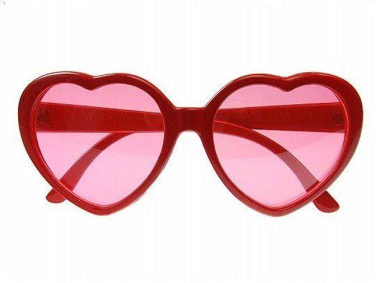 Okulary serduszka czerwone okr3-007