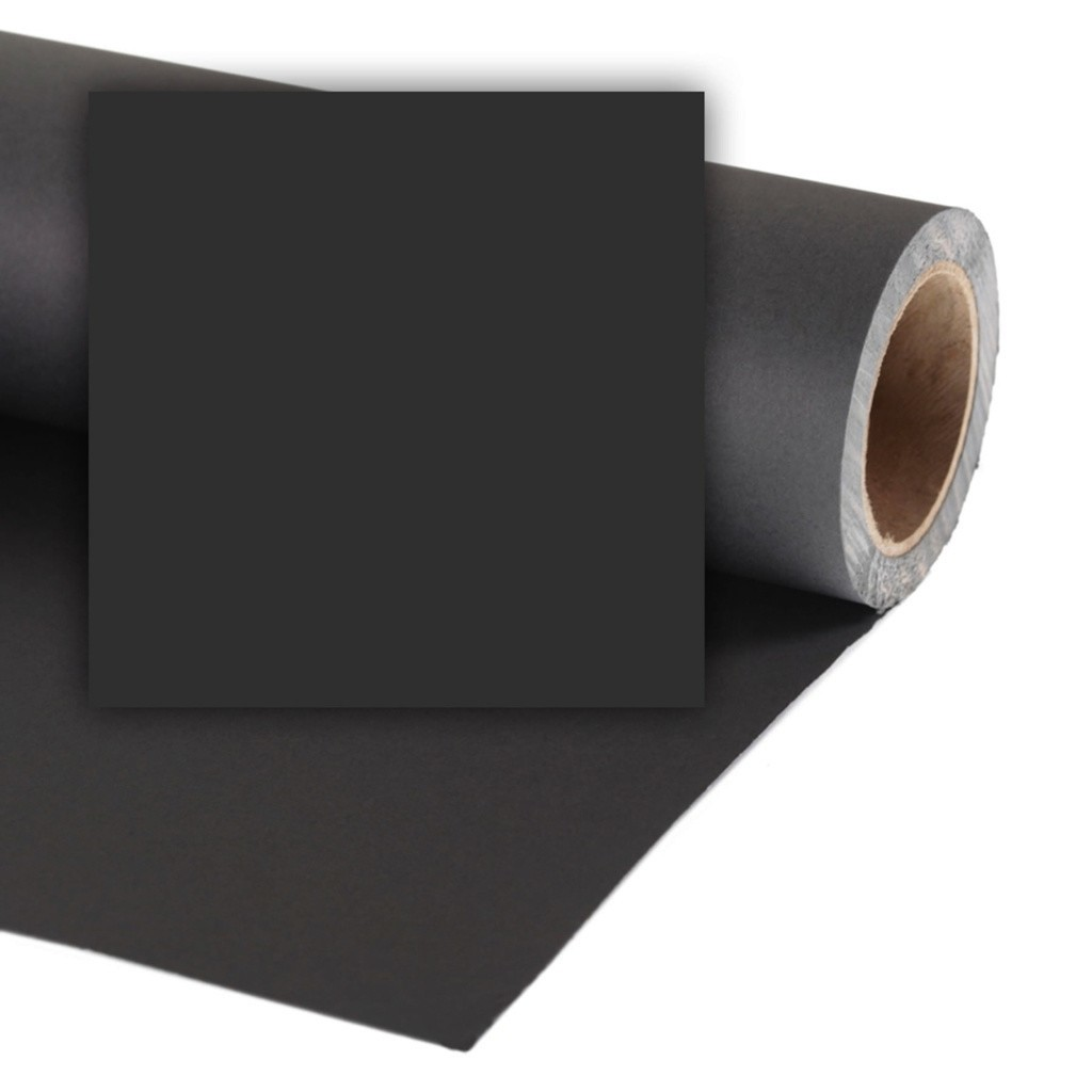 Colorama CO568 Black - tło fotograficzne 1,35m x 11m