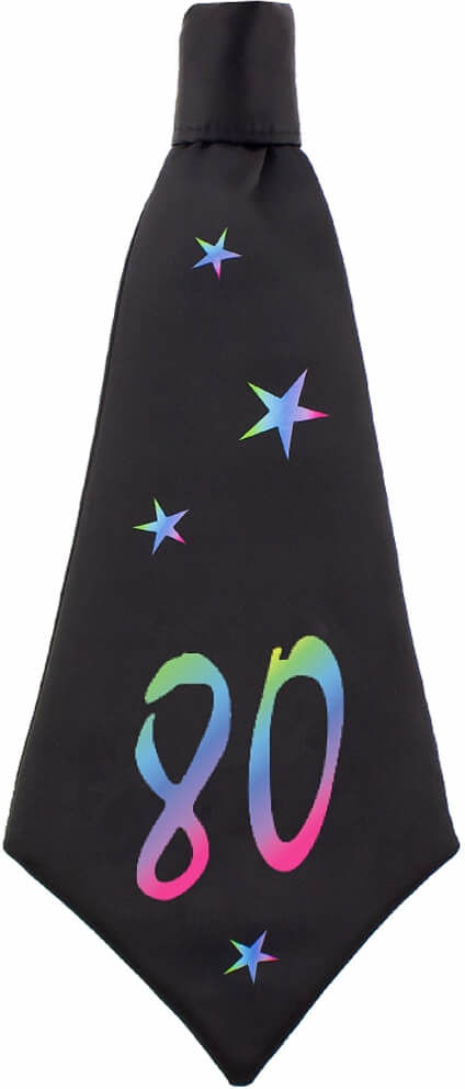 Krawat urodzinowy na 80-tkę - 42 x 18 cm - 1 szt.