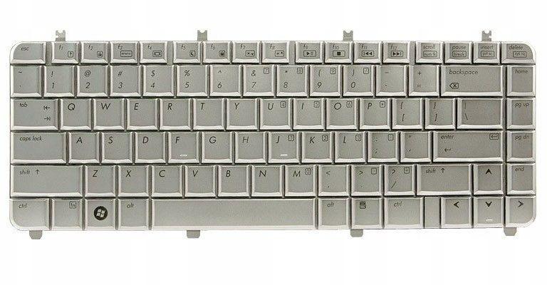 Klawiatura laptopa do HP dv5-1000 (srebrna)