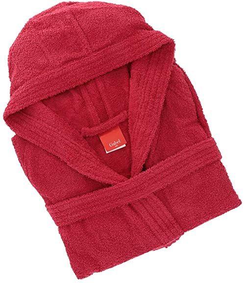 Gabel 09900 6T szlafrok dla dorosłych, 100% bawełna, bordowy, rozmiar XXXL