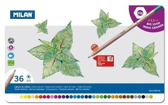 Kredki ołówkowe 36 kolorów MILAN