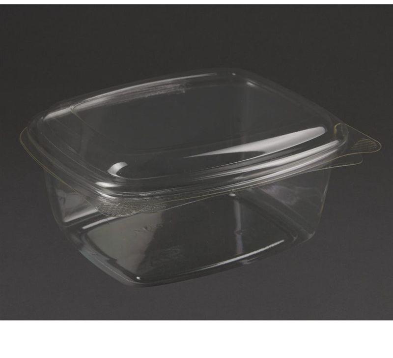 Vegware Kompostowalne pojemniki PLA na delikatesy z odchylanym wieczkiem