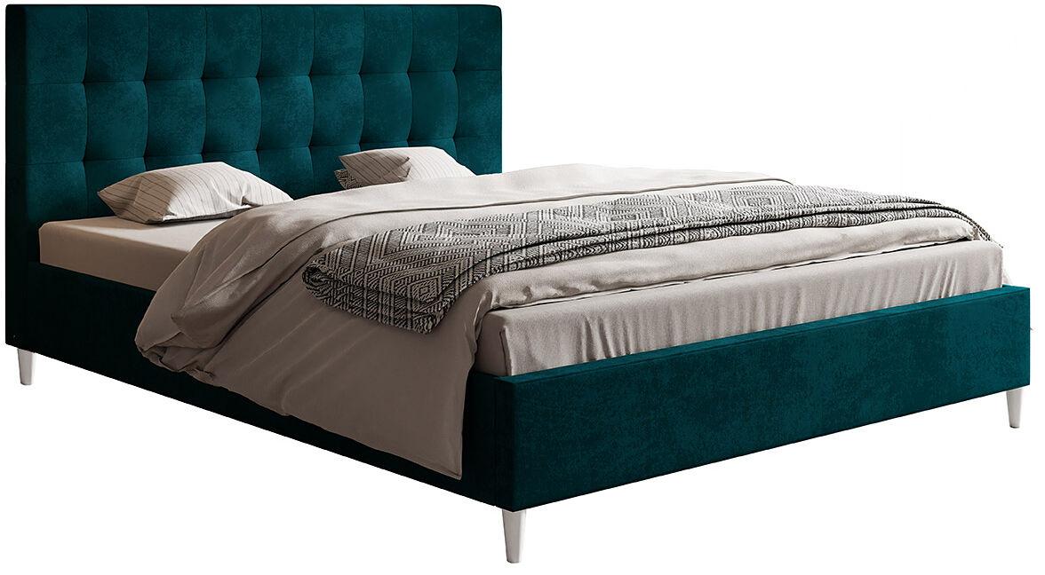 Podwójne łóżko z zagłówkiem 140x200 Haven - 48 kolorów