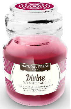 NATURAL FRESH SCENTED CANDLE Świeca zapachowa Divine