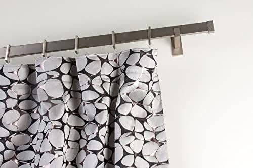 InCasa Karnisz 31 x 12 mm prostokątny, długość 140 cm, wykończenie ze stali satynowej