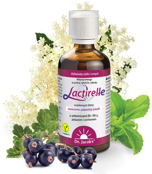Lactirelle Dr. Jacob''s witaminy B1, B12, kwas mlekowy dla wsparcia układu nerwowego 100ml