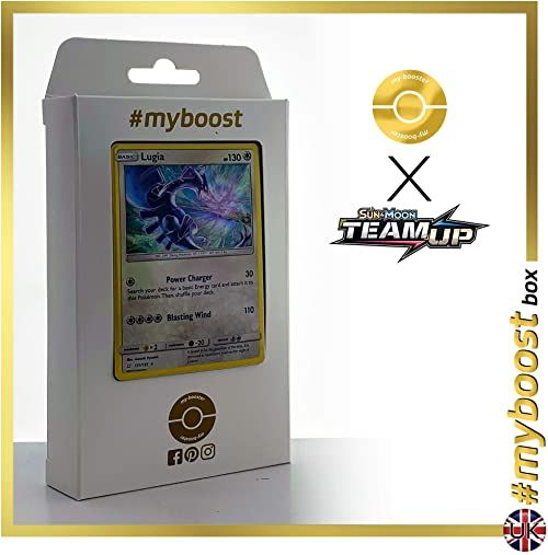 Lugia 131/181 Holo - #myboost X Sun & Moon 9 Team Up - pudełko 10 angielskich kart Pokemon