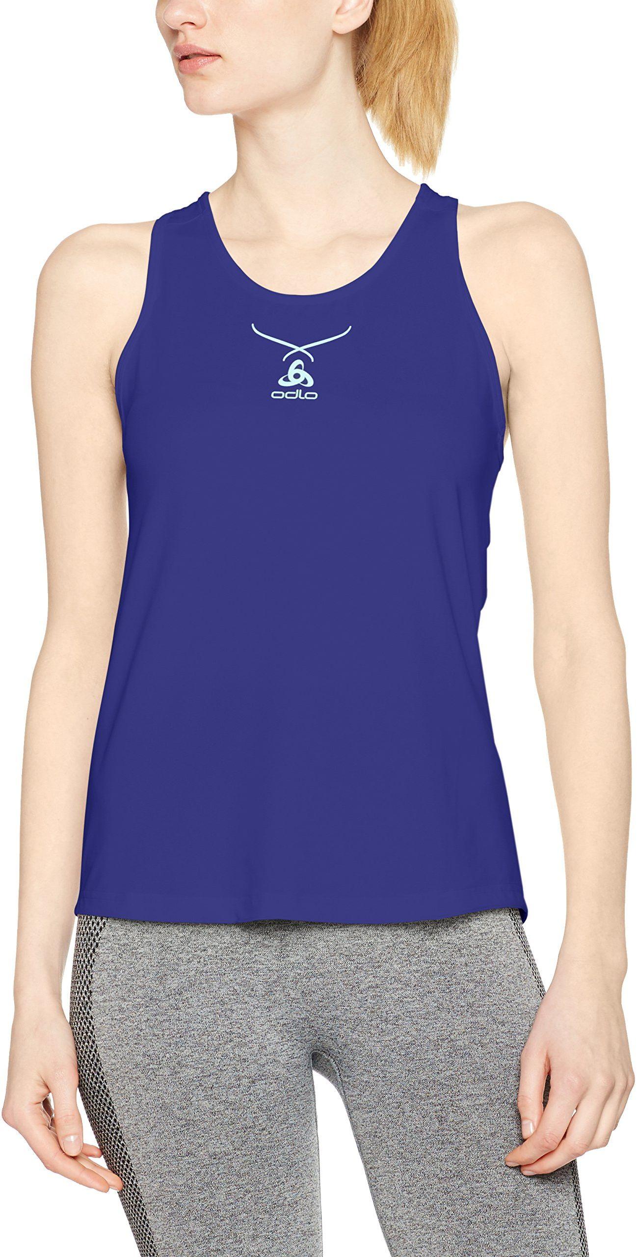 Odlo damska koszulka Singlet Crew z okrągłym kołnierzem, kolor: niebieski/niebieski