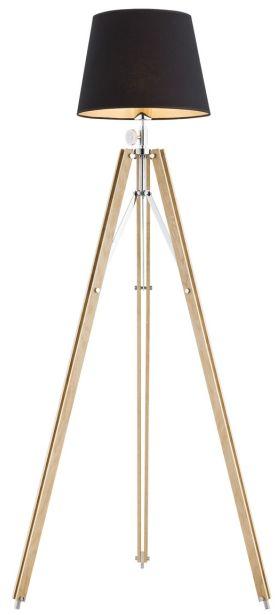 Lampa podłogowa Aster 3421 Argon nowoczesna oprawa stojąca w kolorze drewna