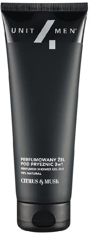 Unit4Men Perfumowany żel pod prysznic 3w1 Citrus&Musk