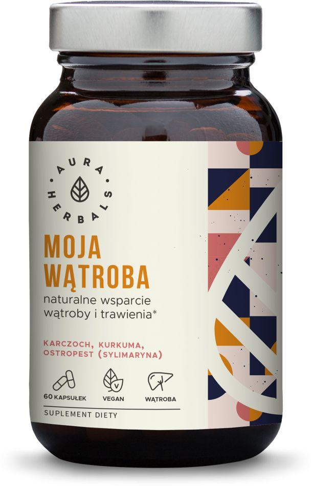 Moja Wątroba - Karczoch Kurkuma Ostropest - Wsparcie Trawienia (60 kaps) VEGE Aura Herbals