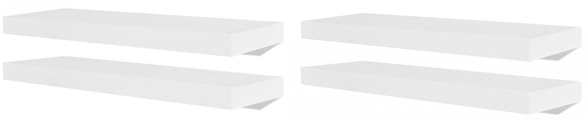 Zestaw nowoczesnych półek ściennych Nera 3X - biały