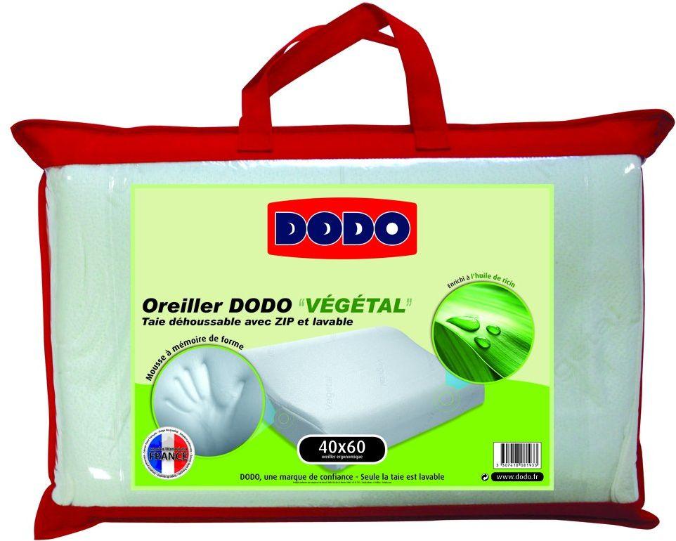 Dodo Vegetal ergonomiczna poduszka pod głowę, 40 x 60 cm, biała