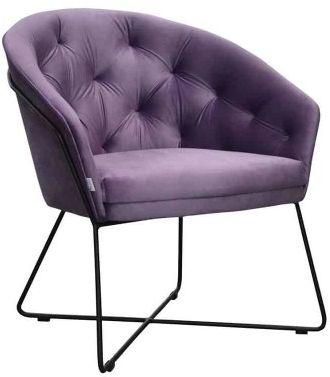 Pikowane krzesło na metalowych płozach Etna