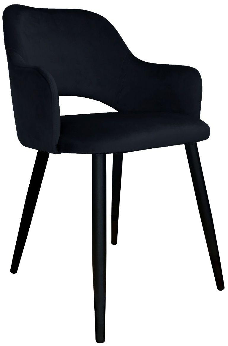 Krzesło NAPO VELVET czarne w stylu glamour na metalowych nogach  KUP TERAZ - OTRZYMAJ RABAT