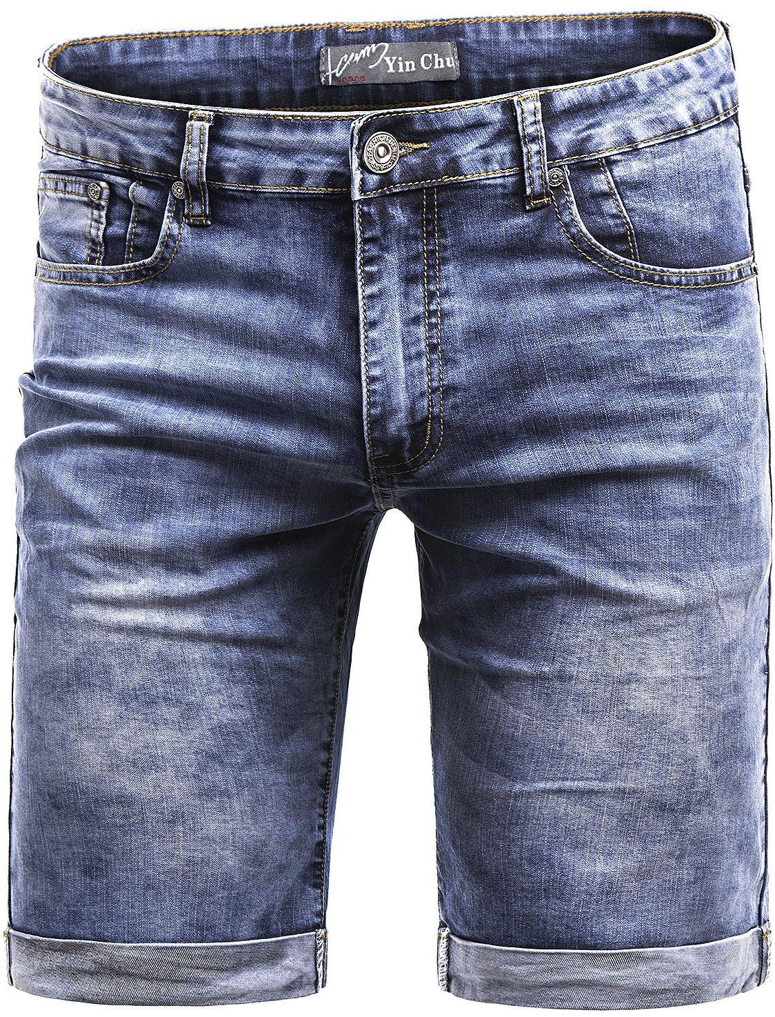 Spodenki męskie 2061 - jeansowe