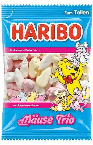 HARIBO Kolorowe myszy z pianki cukrowej Mause Trio 250g