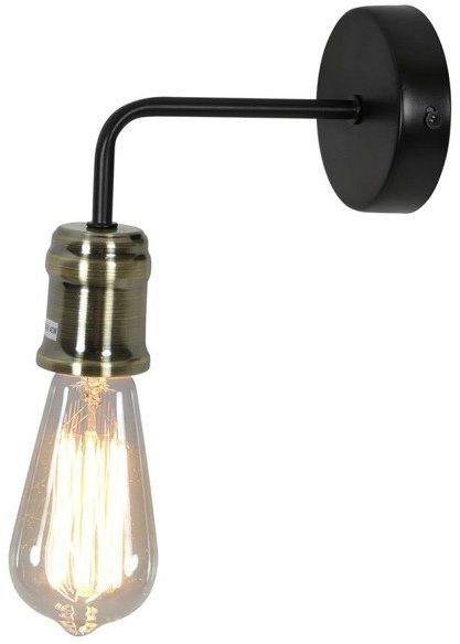 GOLDIE LAMPA KINKIET 1X60W E27 CZARNY+PATYNA BEZ ŻARÓWKI