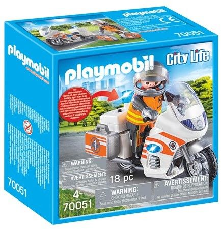 Playmobil - Motocykl ratowniczy ze światłem 70051