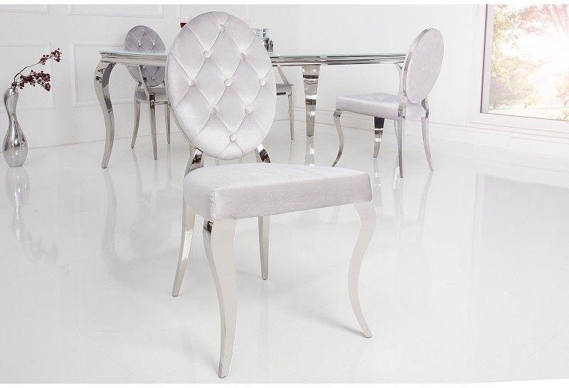 Krzesło New Barok szare