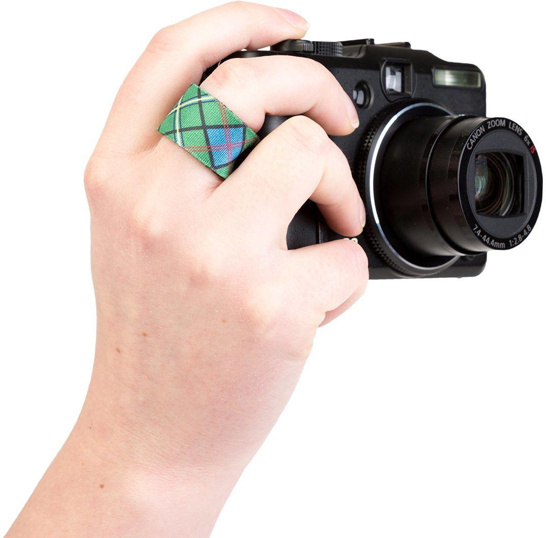 Optech USA Finger Cuff-QD pasek do aparatu fotograficznego, wzór szkocki