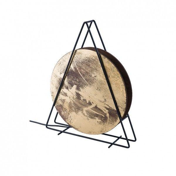 Lampka stołowa Wheel czarno złota drewniana 9032 - Nowodvorski Do -17% rabatu w koszyku i darmowa dostawa od 299zł !