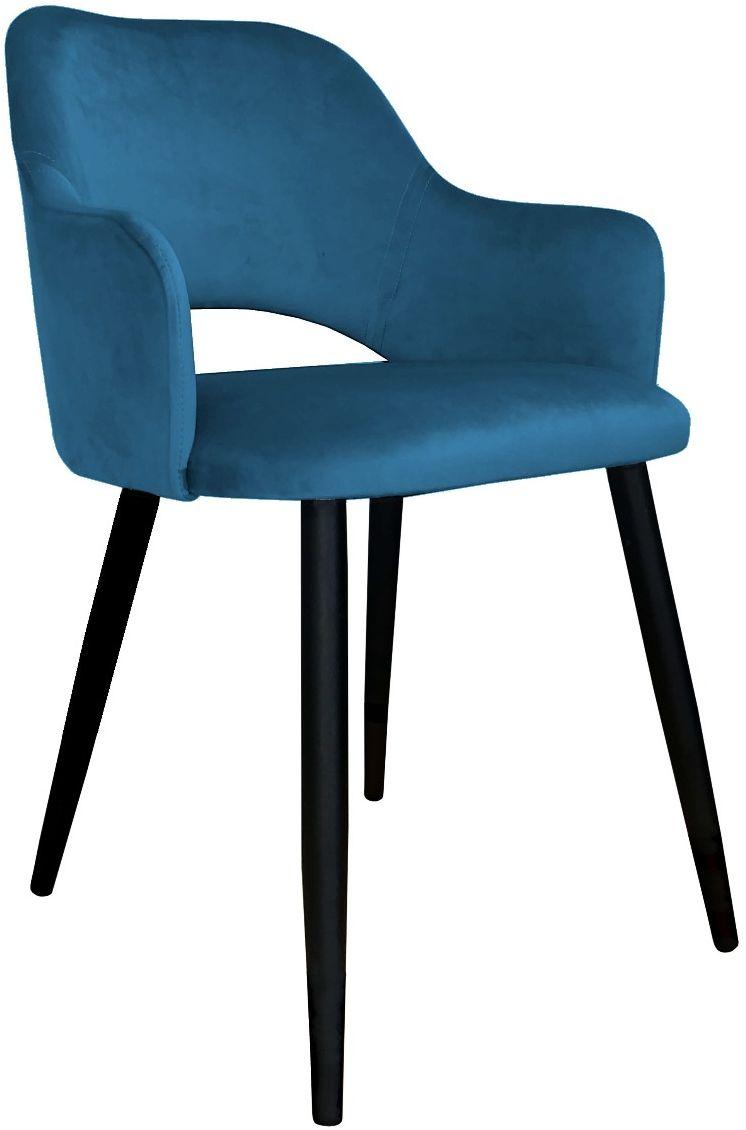 Krzesło NAPO VELVET ciemno niebieskie