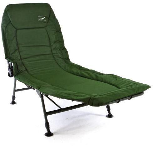 Łóżko kempingowe wędkarskie turystyczne zielone