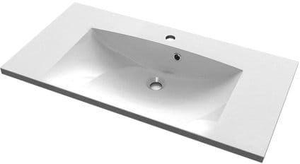 Umywalka kompozytowa 90x46cm, biała MARIA