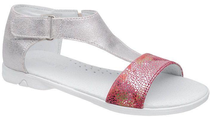 Sandałki dla dziewczynki KORNECKI 4750 Srebrne Multi Różowe - Srebrny Różowy Multikolor
