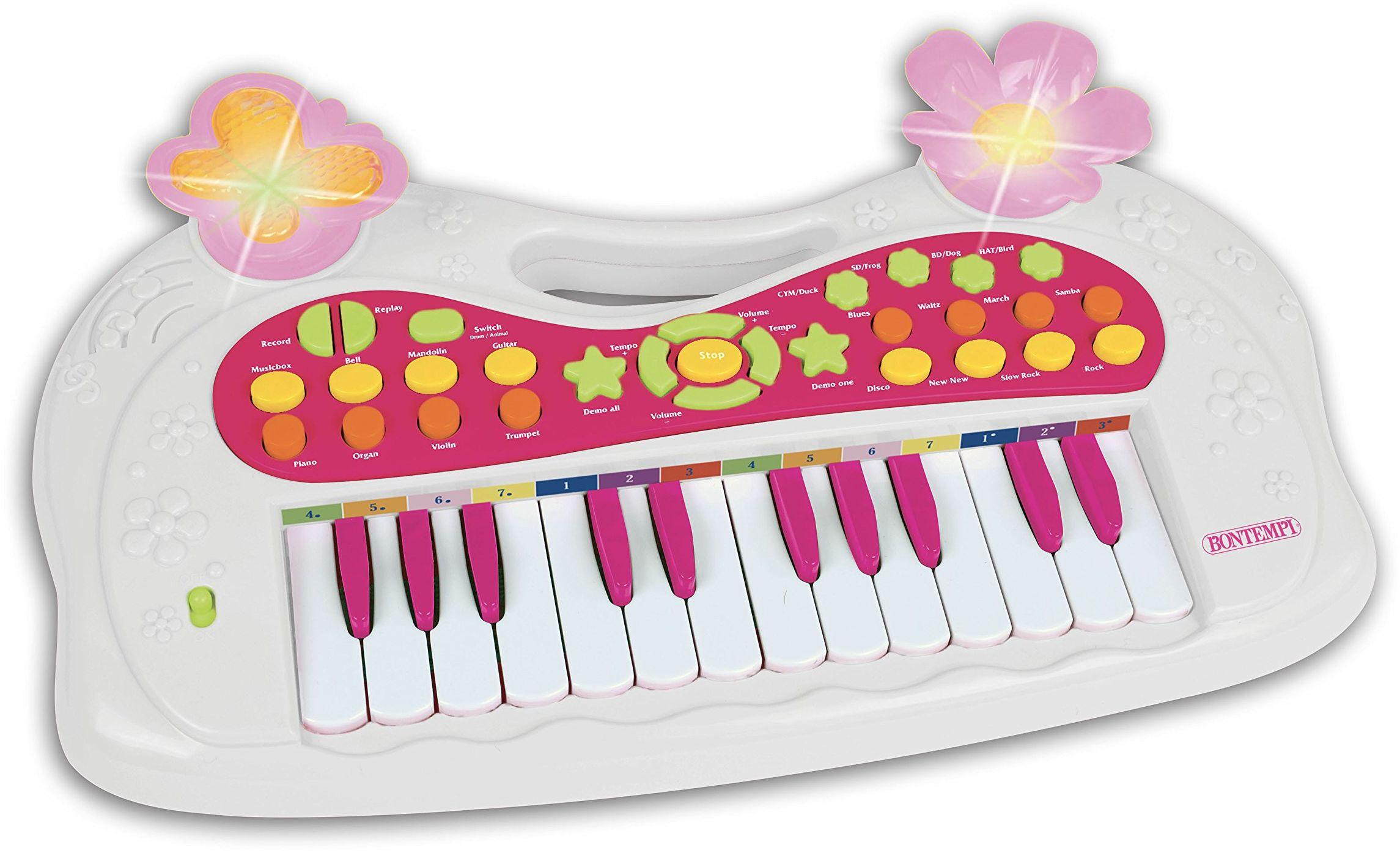 Bontempi Bontempi122771 24 klawisze klawiatura z 8 dźwiękami, 8 rytmami, 8 demosongów, wiele kolorów