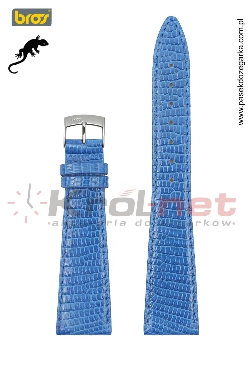 Pasek 8229/82/18 - skóra jaszczurki, niebieski