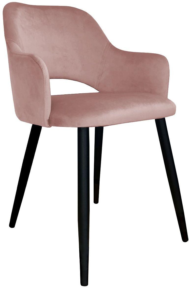 Krzesło NAPO VELVET różowe