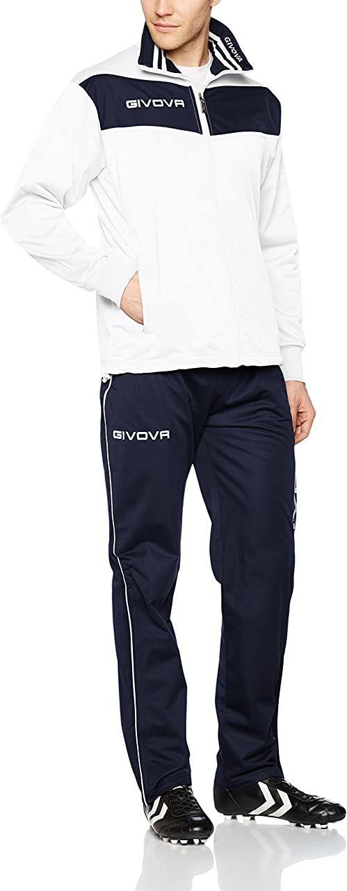 Givova, garnitur wela, biały/niebieski, XS