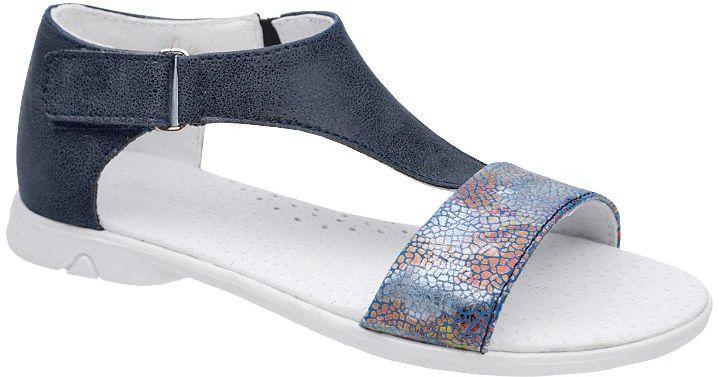 Sandałki dla dziewczynki KORNECKI 4750 Granatowe Niebieskie Mullti - Granatowy Niebieski