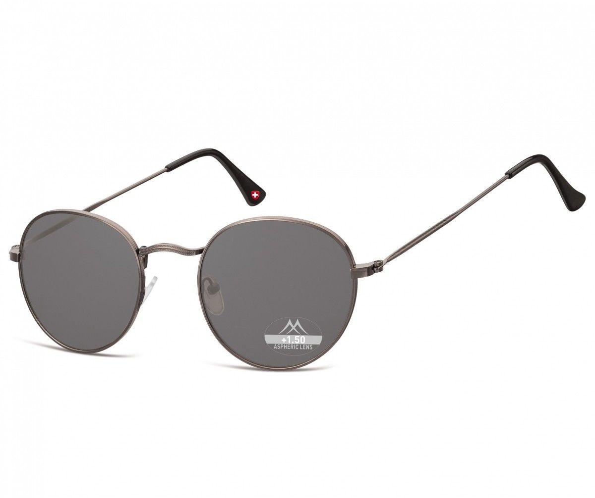 Przyciemniane asferyczne okulary do Czytania Lenonki Montana HMR54S moc:+3,5