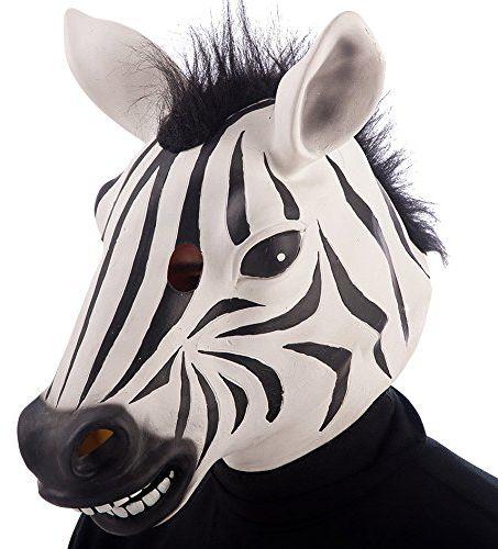 Carnival Toys 1400 - maska Zebra, lateks, czarna/biała