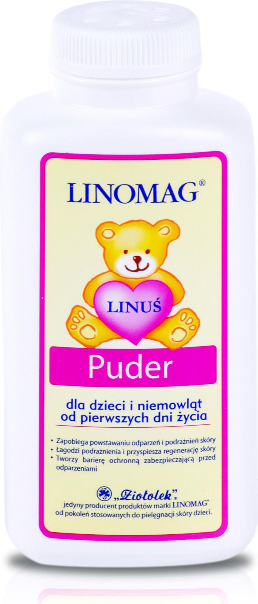 Linomag Emolienty Puder dla dzieci i niemowląt od 1. dnia życia 100 g