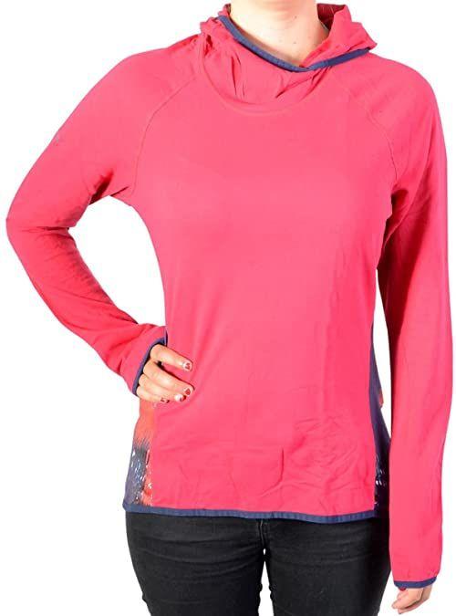 Desigual Damska koszulka Ts_long Sl Night Gar, 3037 Rojo Abril, L Knitted Long Sleeve T-shirt czerwony czerwony M