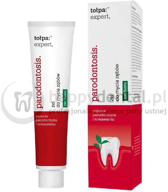 TOŁPA Expert Parodontosis żel 75ml - pasta w do zębów w formie żelu o działaniu regenerującym i przeciwzapalnym dziąseł