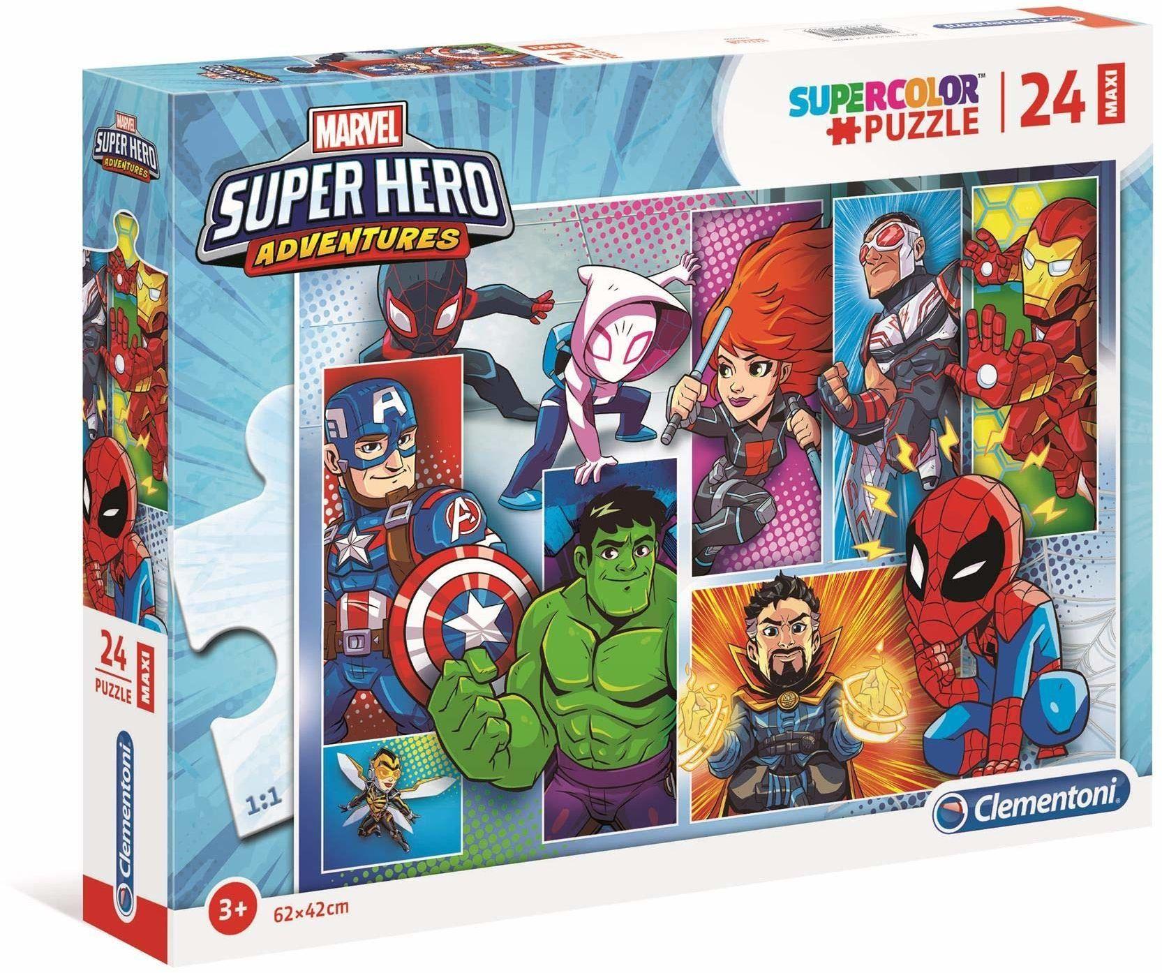 Clementoni 24208 24 szt. Puzzle Maxi Marvel Superhero